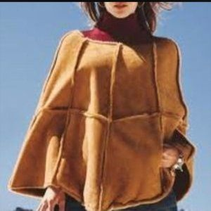 NWT UGG Suede Leather Oversized Poncho